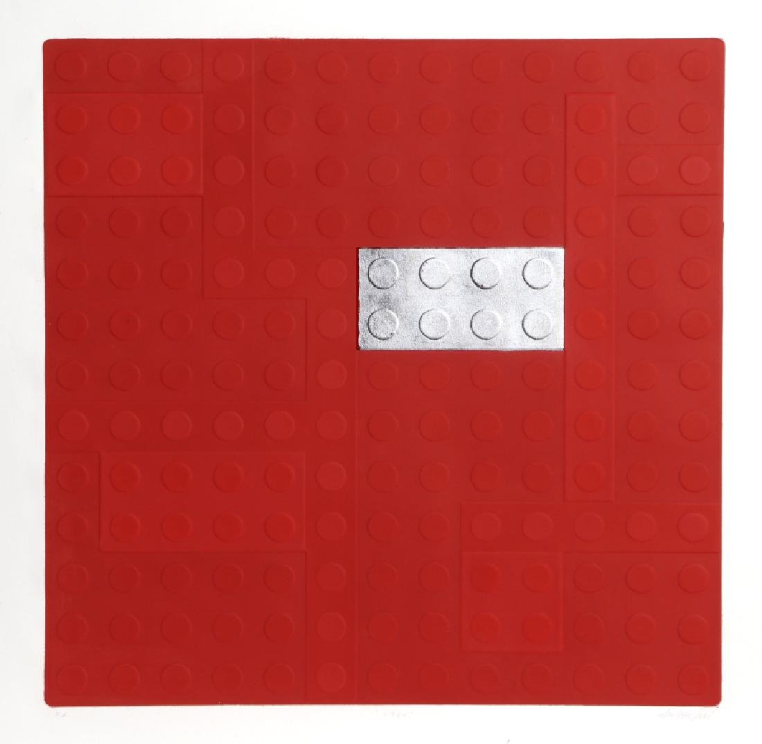 Matteo Negri, Lego (Red), Aquatint Etching with Silver