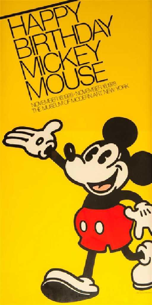 Disney Studios Happy Birthday Mickey Mouse At Moma