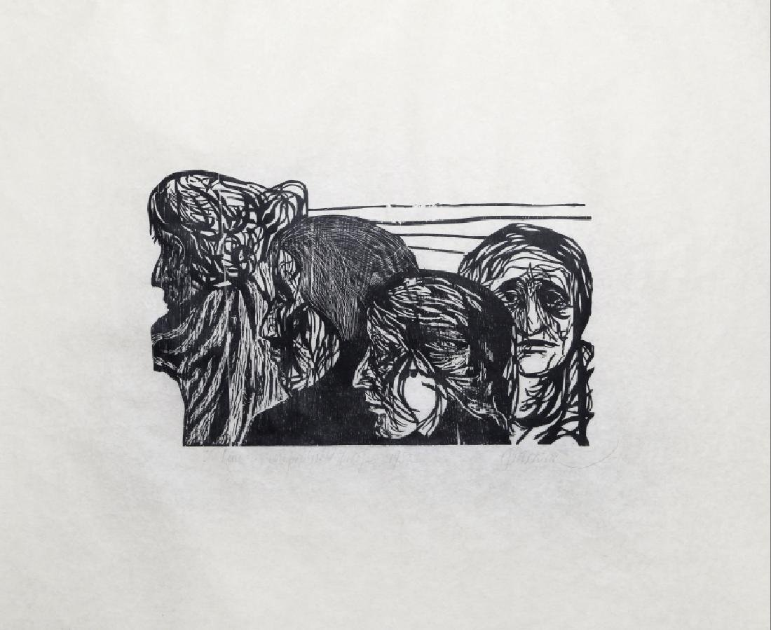 Leonard Baskin, The Line, Woodcut