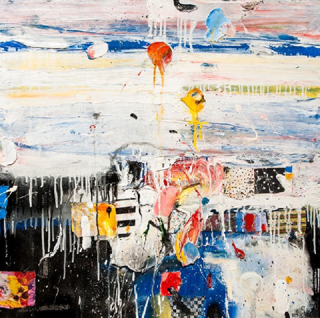 Robert Baribeau, Abstract Seascape, Mixed Media