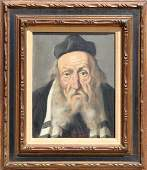 Jeno Gussich, Rabbi, Oil Painting