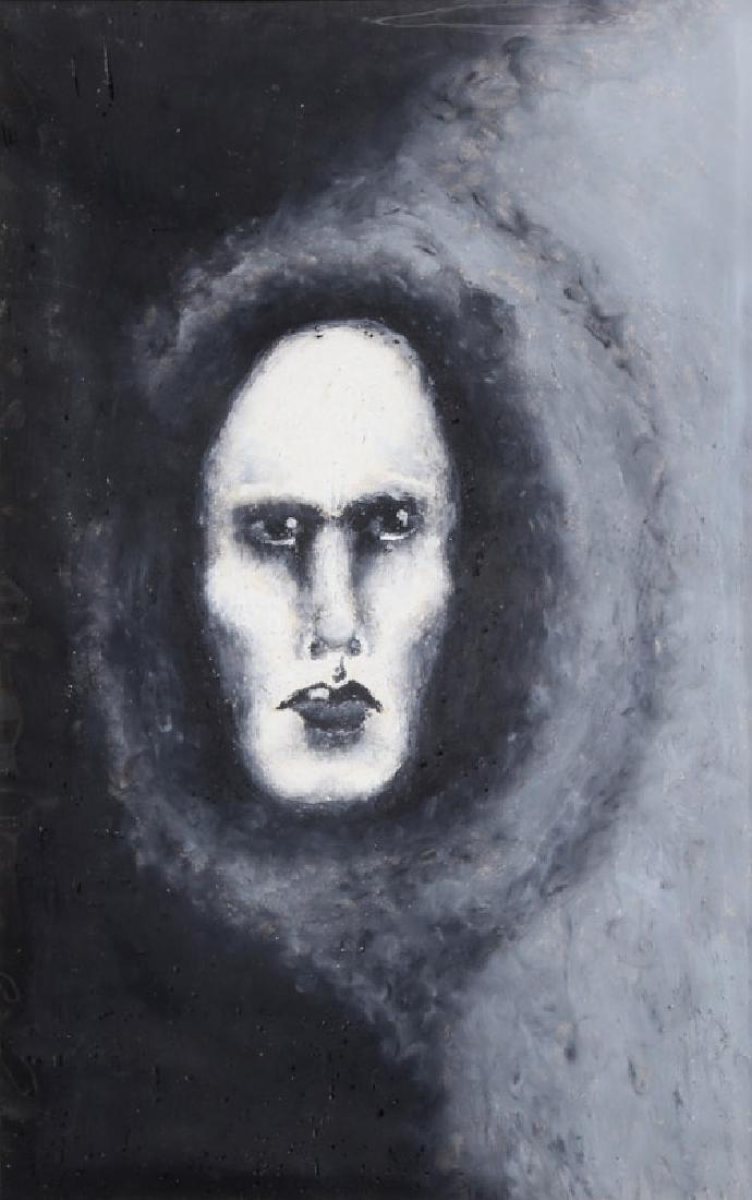 Jon Robyn, Portrait in Black Cloak, Pastel Drawing