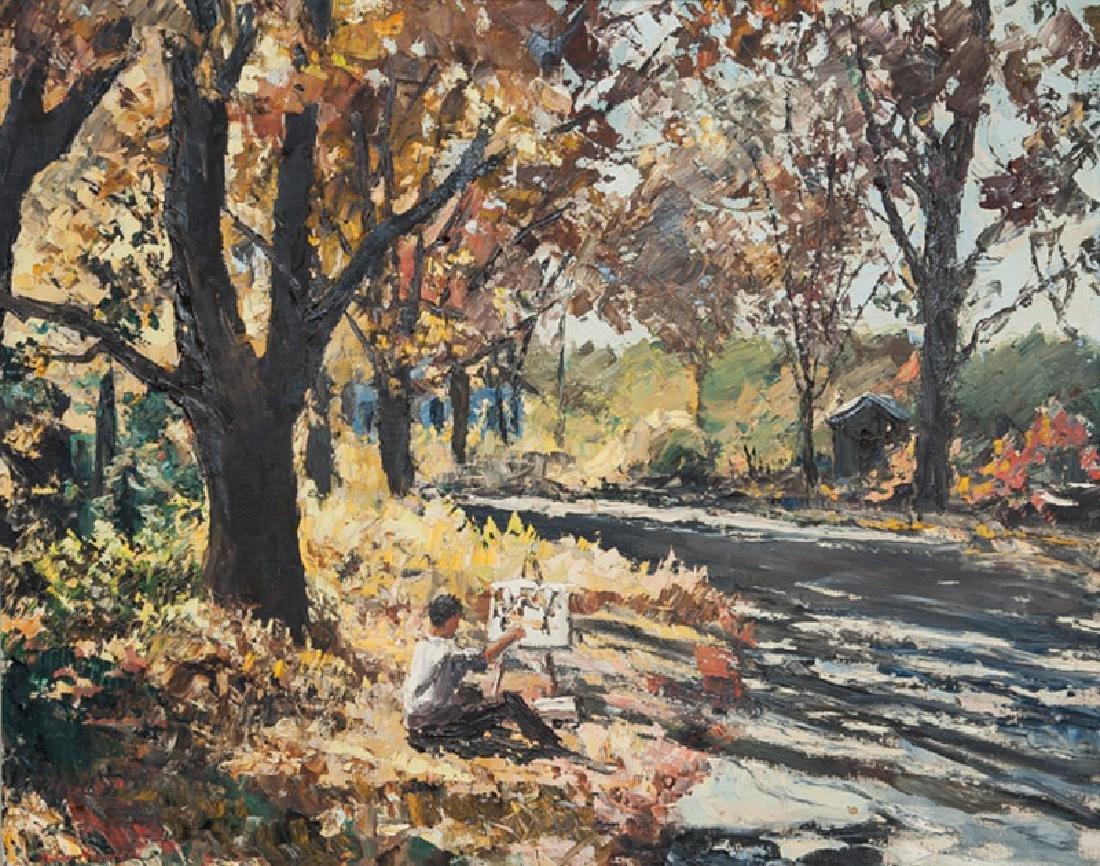 Peter Hayward, Autumn Woods, Oil Painting