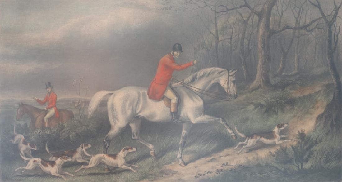 George Henry Laporte, Fox Hunt Scene, Lithograph