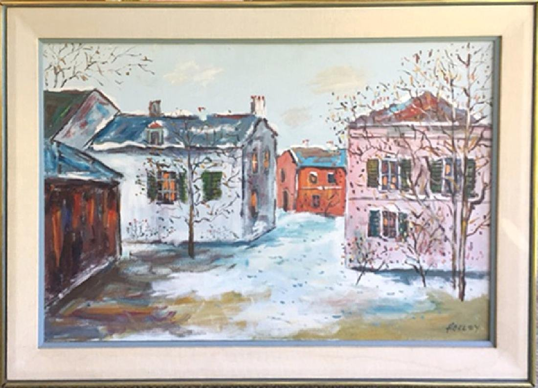 Truxton Hosley, Winter Homes, Oil Painting