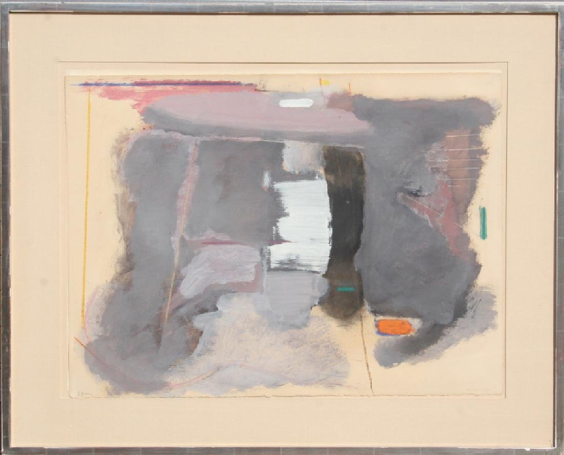 Stephen Greene, Grey Abstract, Acrylic Painting
