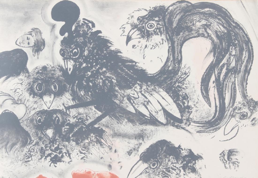 Robert Beauchamp, Crows, Lithograph