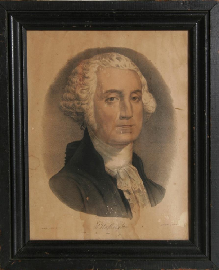 Currier and Ives, George Washington, Hand-colored