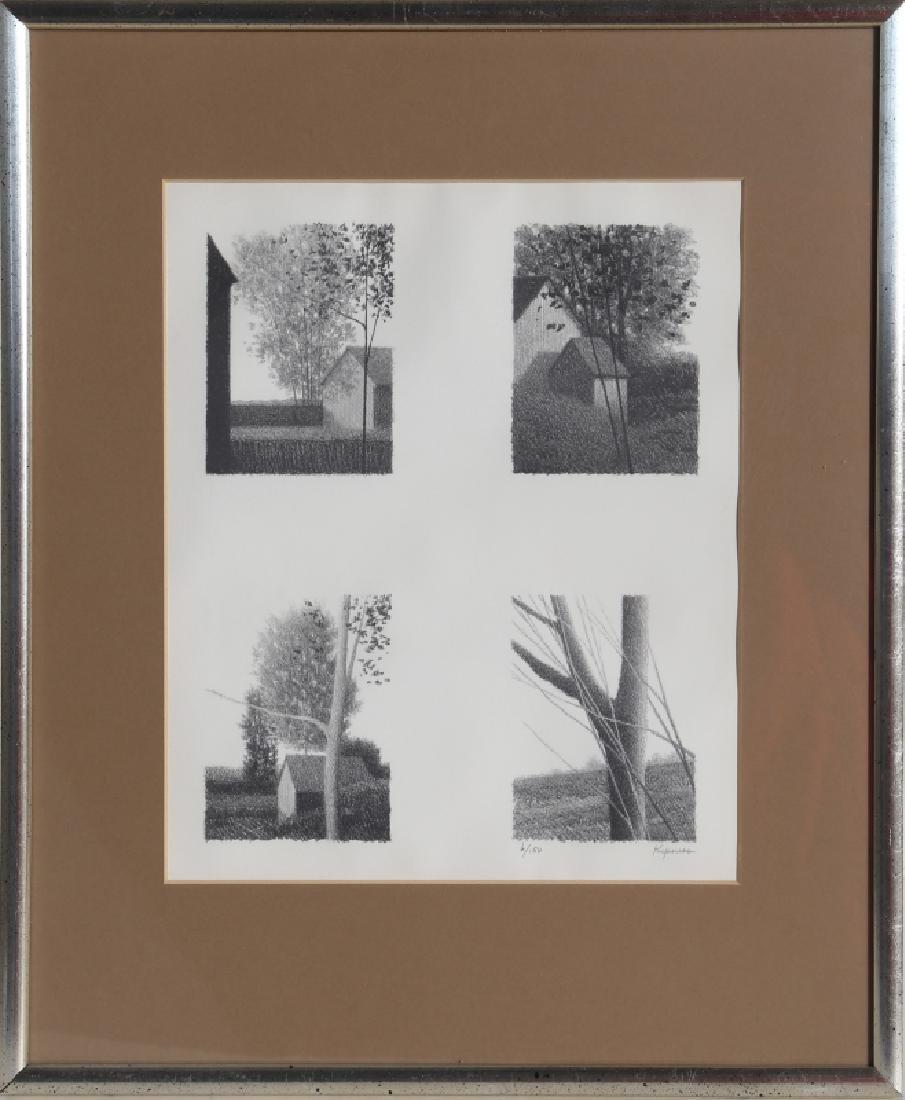 Robert Kipniss, Four in One, Lithograph