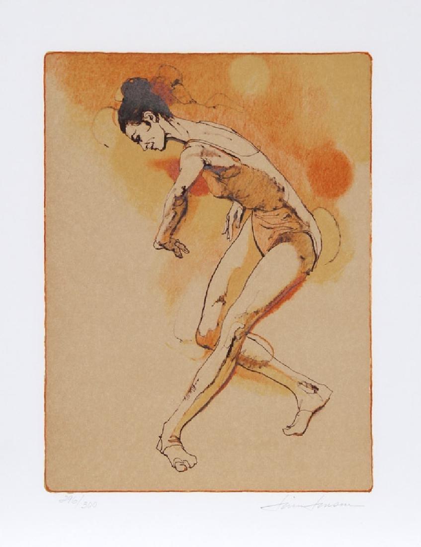 Jim Jonson, Female Dancer, Lithograph