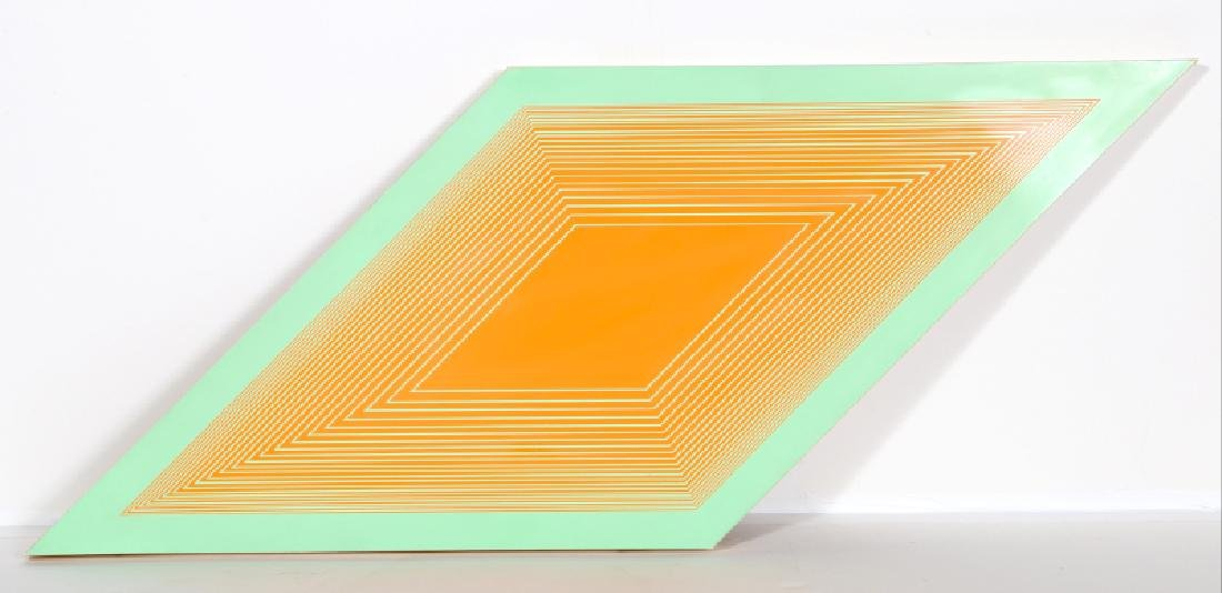 Richard Anuszkiewicz, Orange on Green Rhombus,