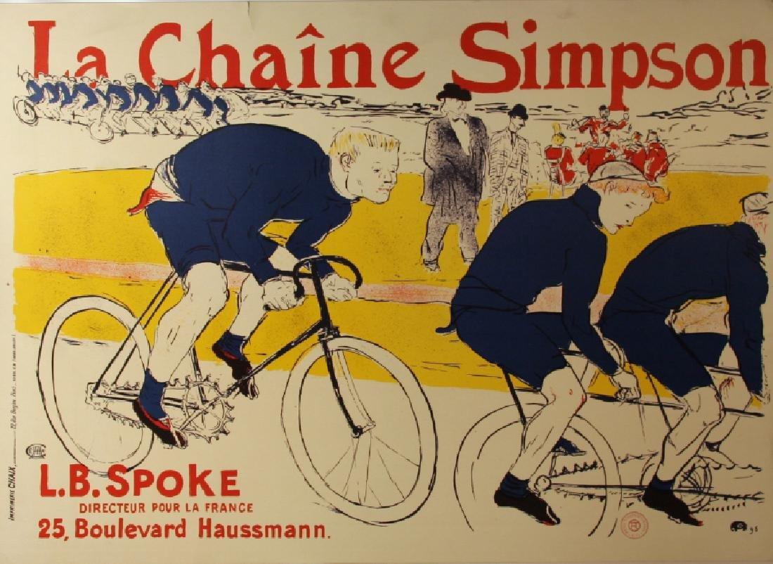 Henri de Toulouse-Lautrec, La Chaine Simpson, Poster