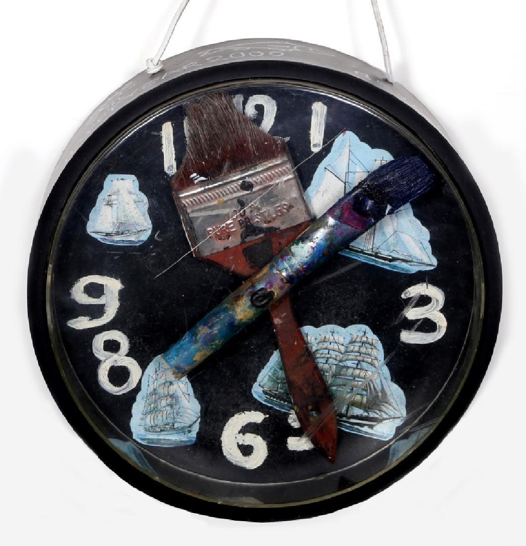 Konstantin Bokov, Navigation Clock, Acrylic Painting