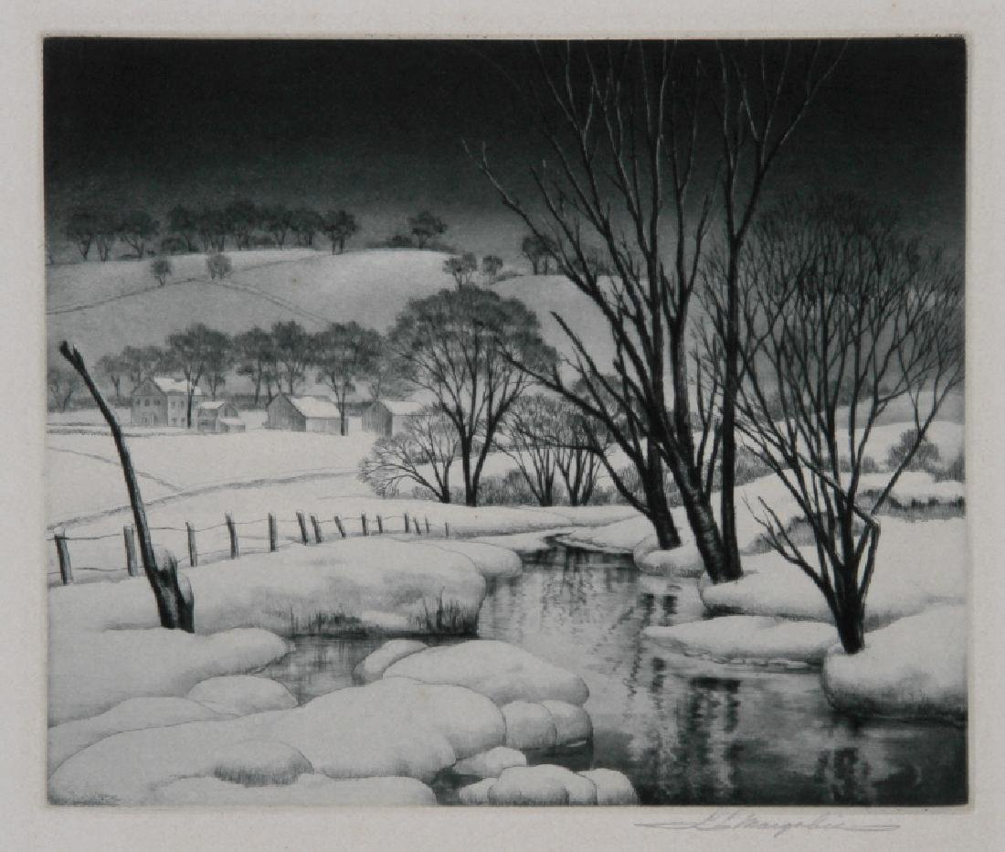 Samuel Margolies, Winter Symphony, Etching