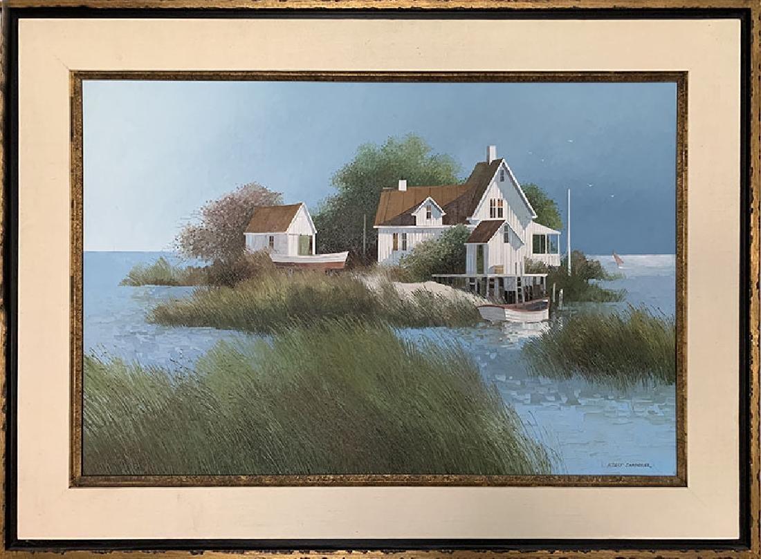Albert Swayhoover, Island Home, Oil Painting