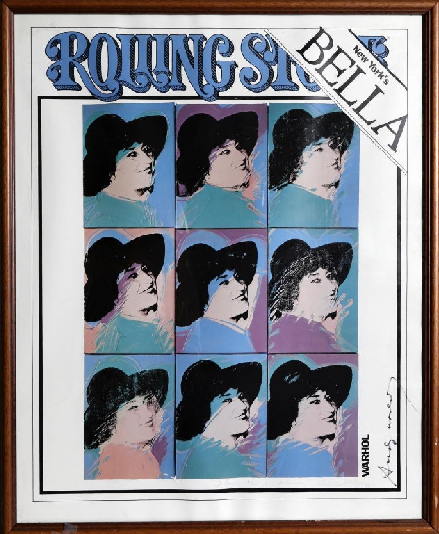Andy Warhol, Bella Abzug, Rolling Stone Cover, Signed