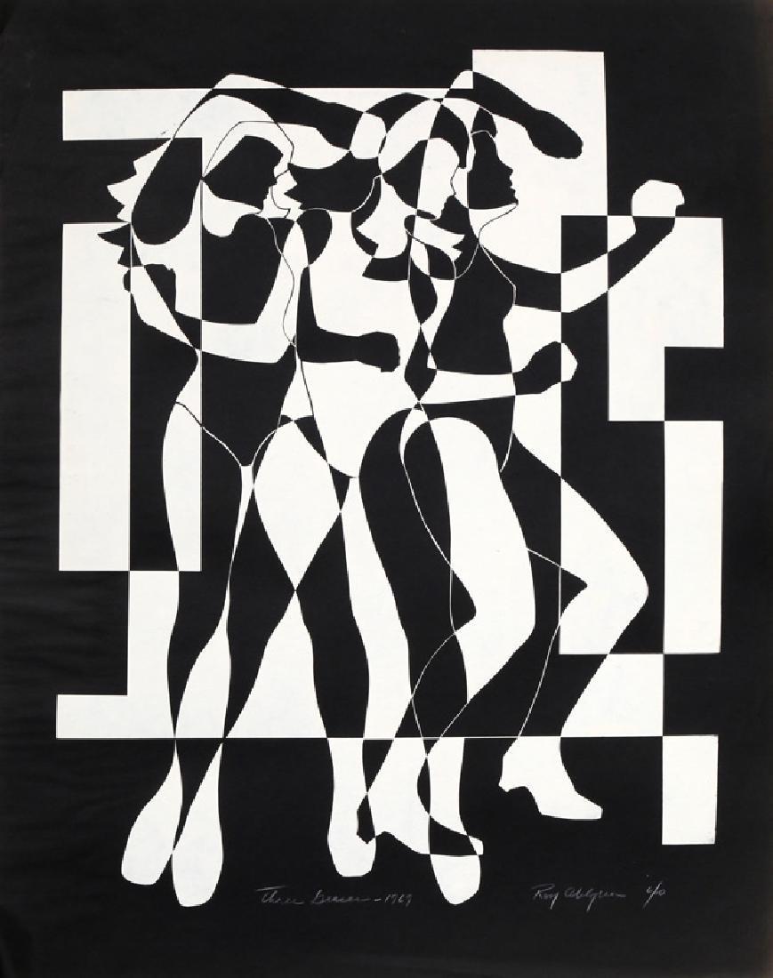 Roy Ahlgren, Three Graces (Black), Serigraph