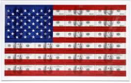 Steven Gagnon, $100 U.S. Flag, Serigraph