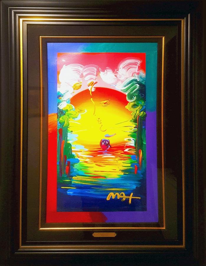 Peter Max, Better World, Mixed Media with Acrylic on