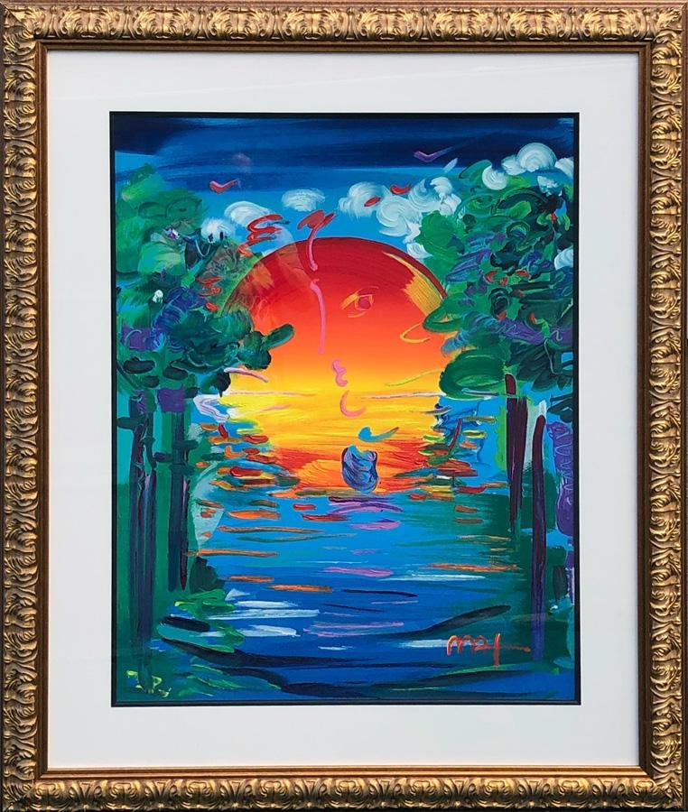 Peter Max, Better World, Acrylic Painting