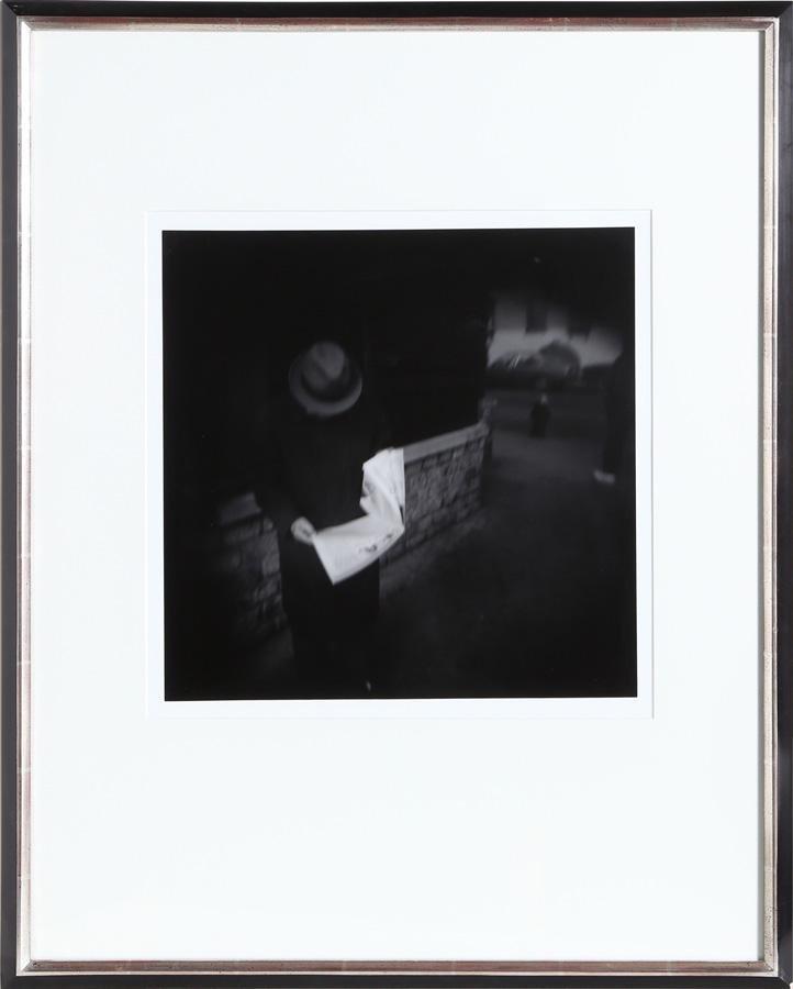 Tony Perrotet, Man Reading a Newspaper, Photograph