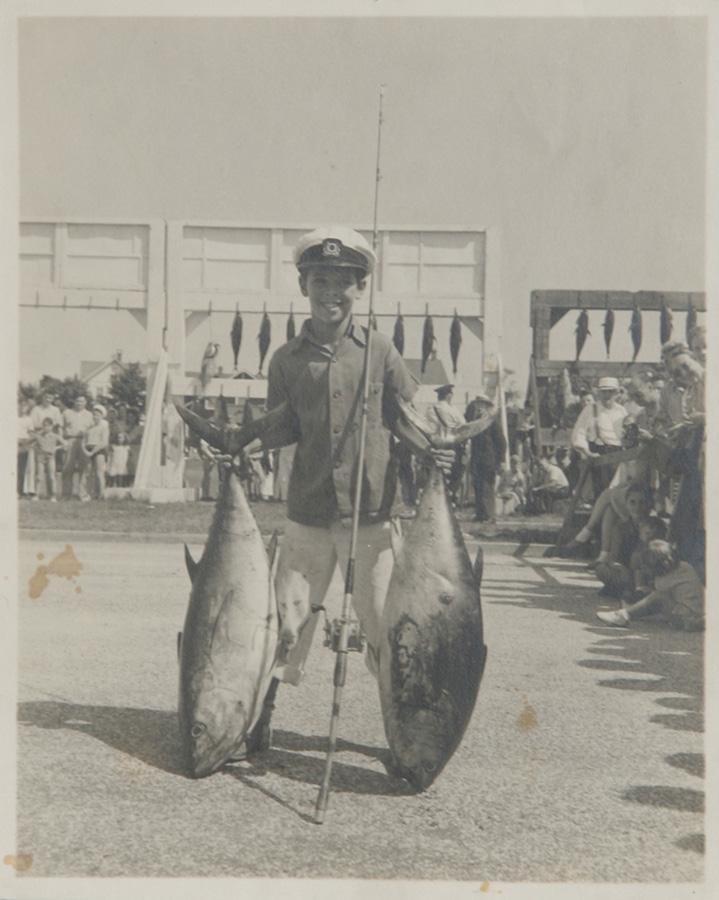 F.W. Tupper, Boy with Big Fish, Photograph