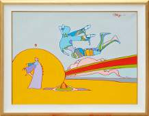 Peter Max, His Birthday, Acrylic Painting