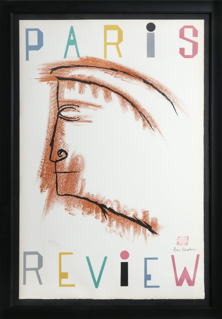 Ben Shahn, Paris Review, Lithograph