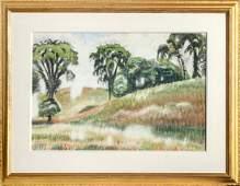 Charles Burchfield, Scene on Windspear Road, Watercolor