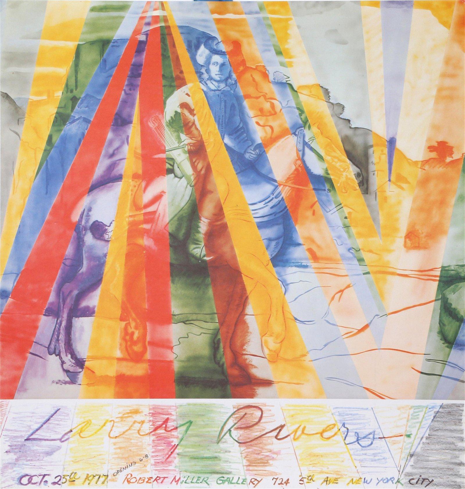 Larry Rivers, Robert Miller Gallery Exhibition, Poster