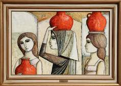 Lucio Ranucci, Waterbearers, Oil Painting