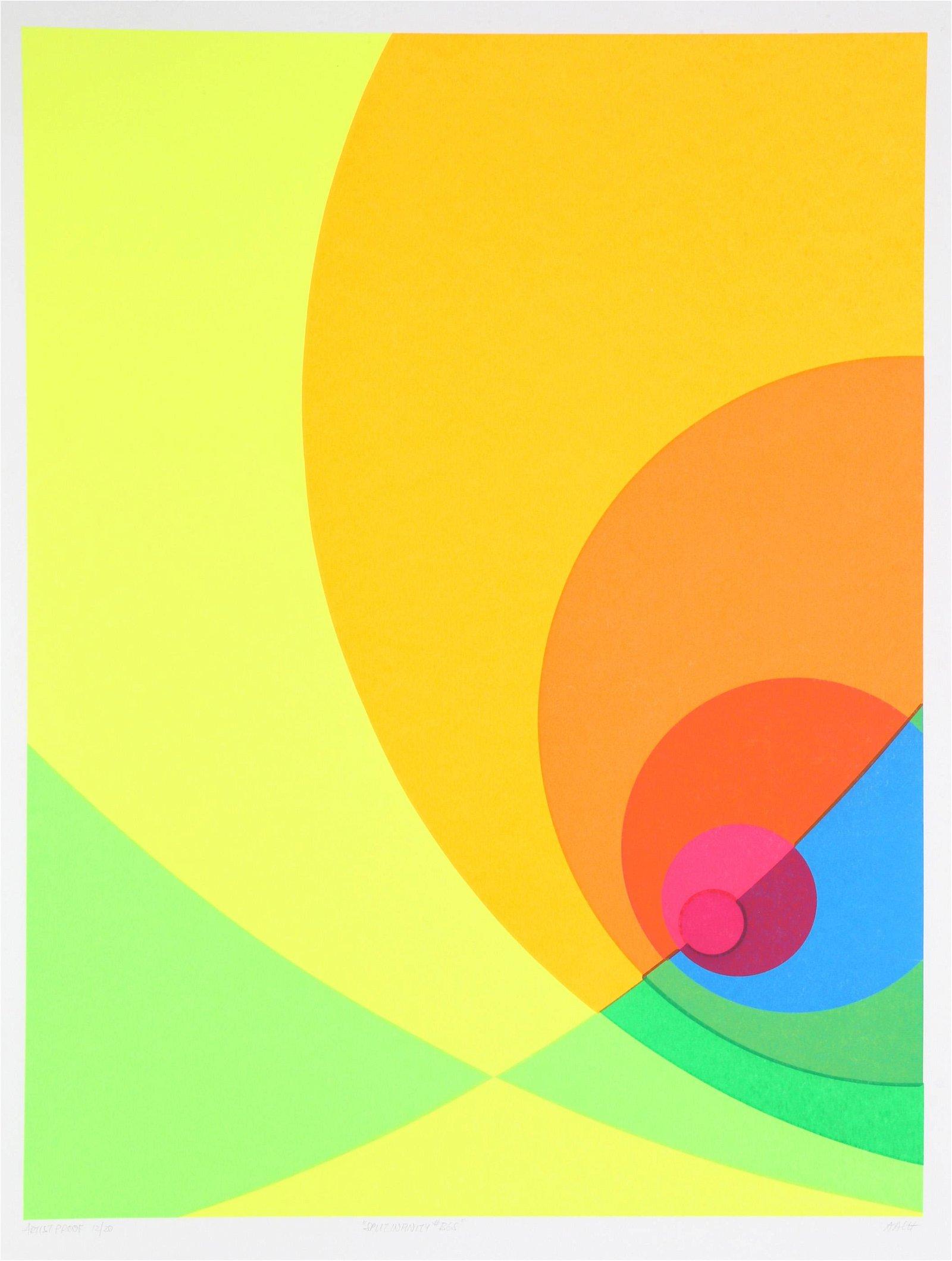 Herbert Aach, Split Infinity #B6S, Silkscreen