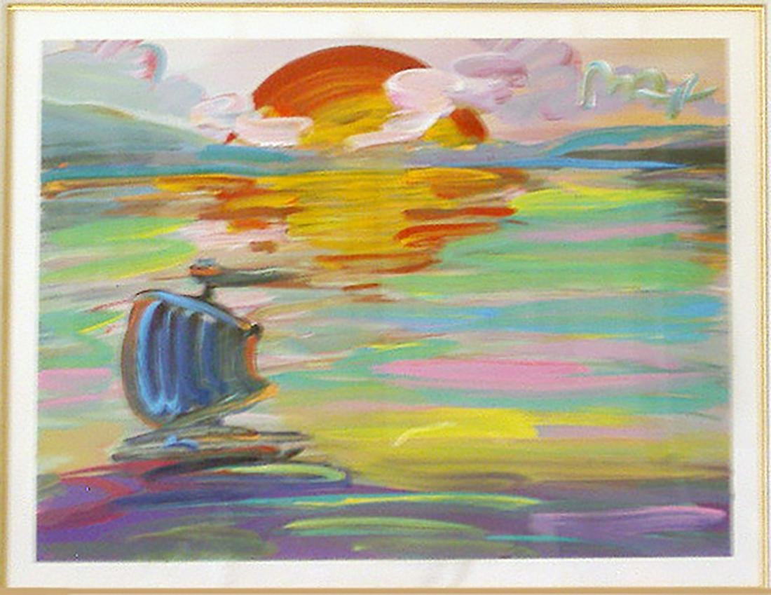 Peter Max, America 500 Set Sail, Acrylic on Paper