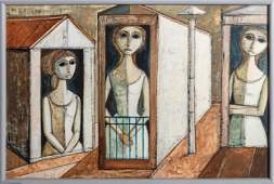 Lucio Ranucci, Three Women, Oil Painting