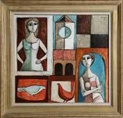 Lucio Ranucci, Pranzo, Oil Painting