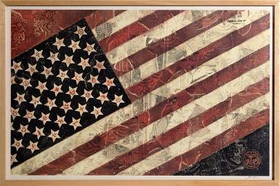 Shepard Fairey, May Day - Flag 1, Offset Lithograph