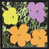 Andy Warhol, Flowers 4, Sunday B. Morning Serigraph