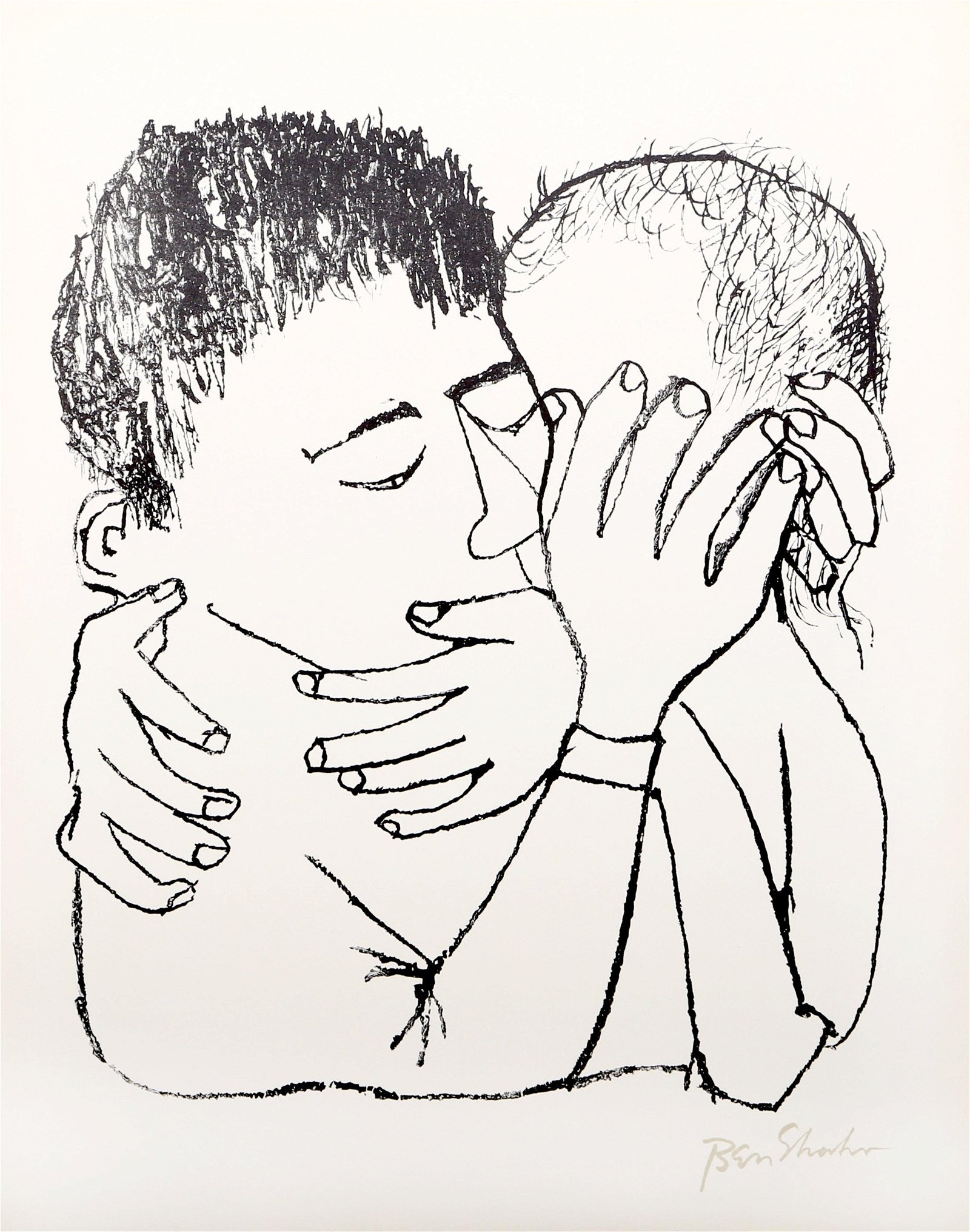 Ben Shahn, Memories of Many Nights of Love, Lithograph