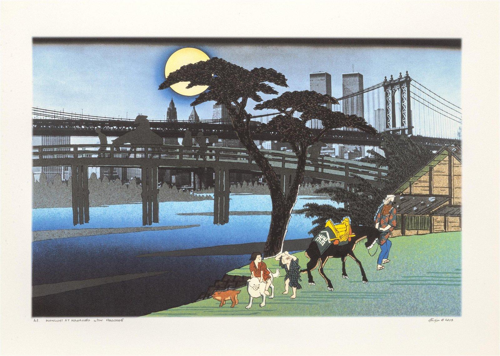 Michael Knigin, Moonlight at Nagakubo, Archival Pigment