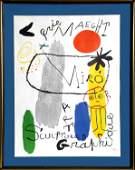 Joan Miro, Galerie Maeght - Art, Sculptures, Graphique,