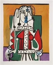 Pablo Picasso, Femme dans un Fautieul, Lithograph