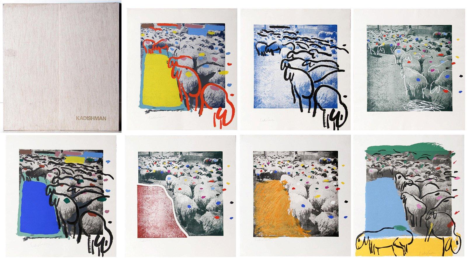 Menashe Kadishman, Sheep Portfolio, Portfolio of 7