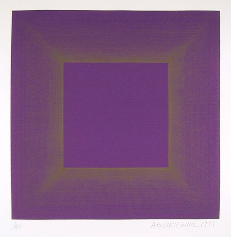 1: Richard Anuszkiewicz, Op-Art Intaglio Etching