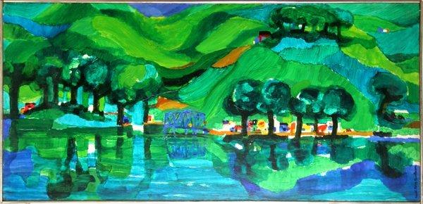 5: Ronald Julius Christensen, Green Farms, Painting