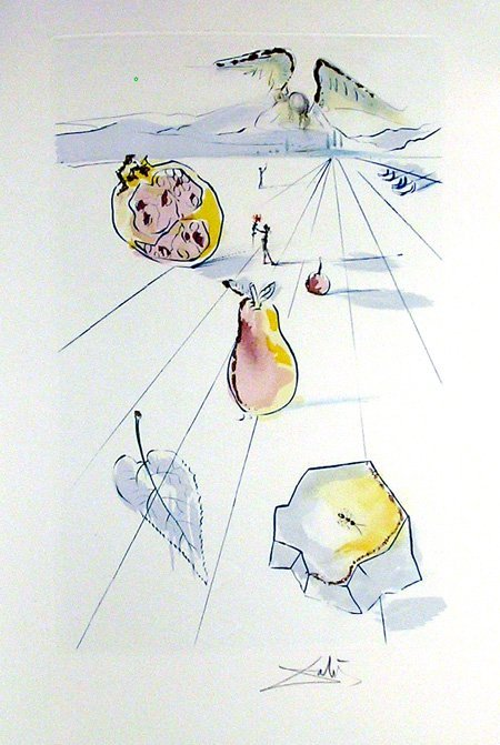 6: Salvador Dali, Song of Songs of King Solomon Etching