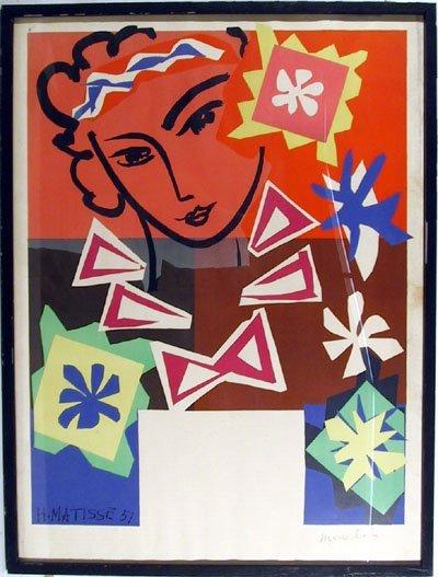 14: Henri Matisse, Madame de Pompadour, Lithograph