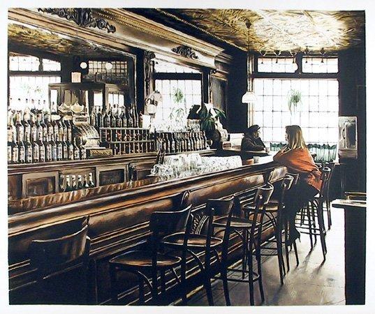 16: Harry McCormick, Landmark Tavern, Lithograph