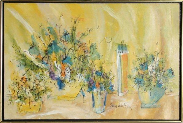 17: Susan Pear Meisel, Flowers, Oil Painting