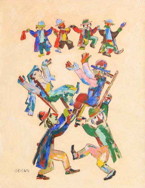 19: Jovan Obican, Wedding Dance, Painting on Paper