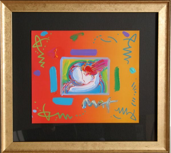 80: Peter Max, I Love the World, Painting
